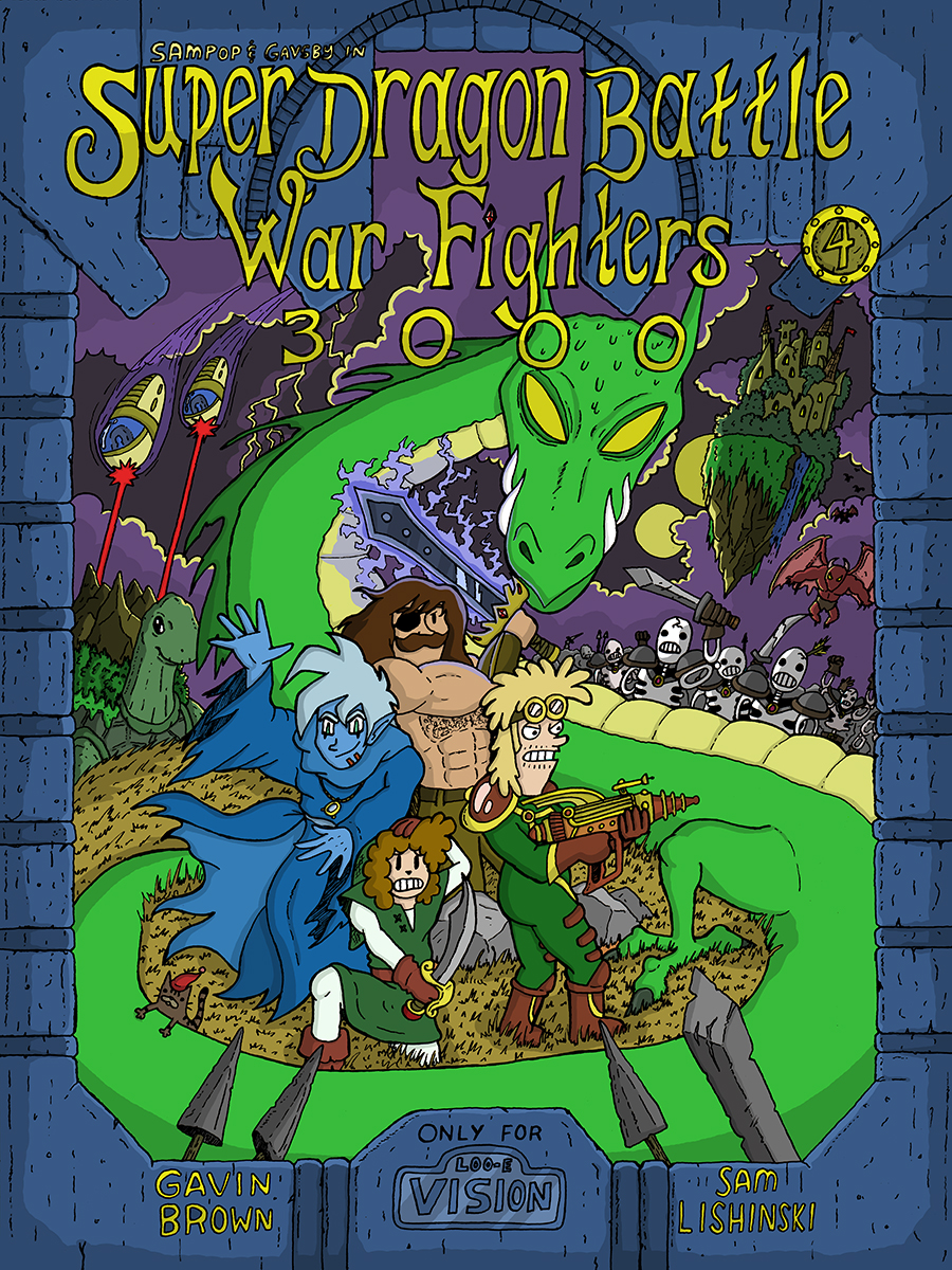 Super Dragon Battle War Fighters 3000 - Cover